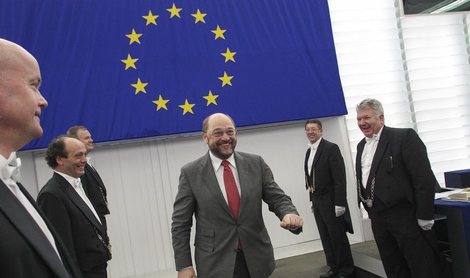 Tusk i Juncker żałują, że Schulz odchodzi, ale żaden nie chce iść za nim