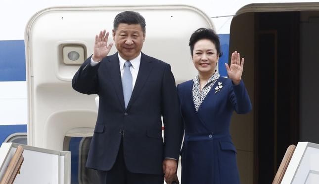 Xi Jinping i jego druga żona, Peng Liyuan