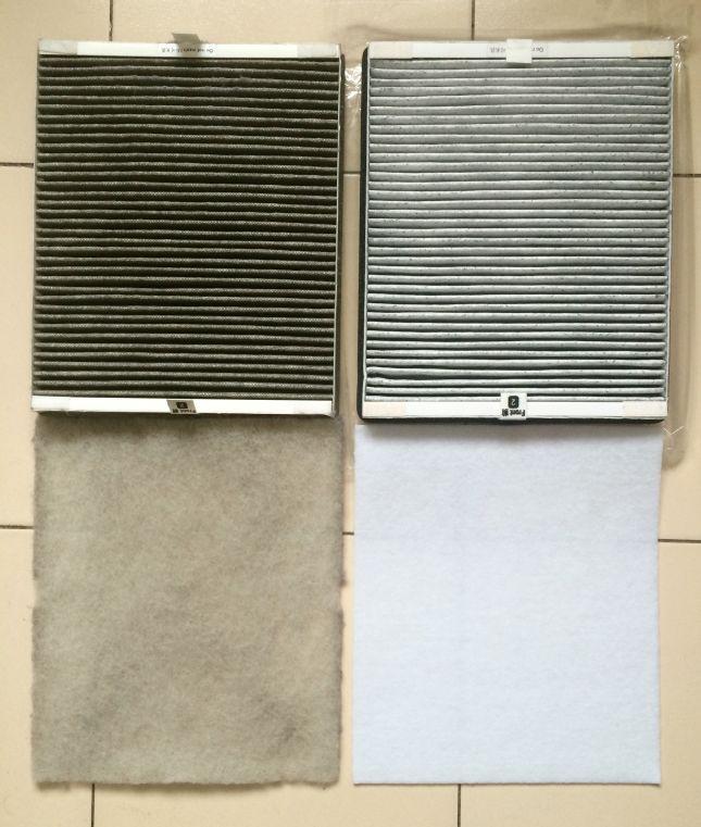 """""""Filtr powietrza w pokoju. Po lewej stary filtr (używałam go ok. 2 miesiące, ale nie codziennie), po prawej nowy"""", fot. Ewa Berus"""