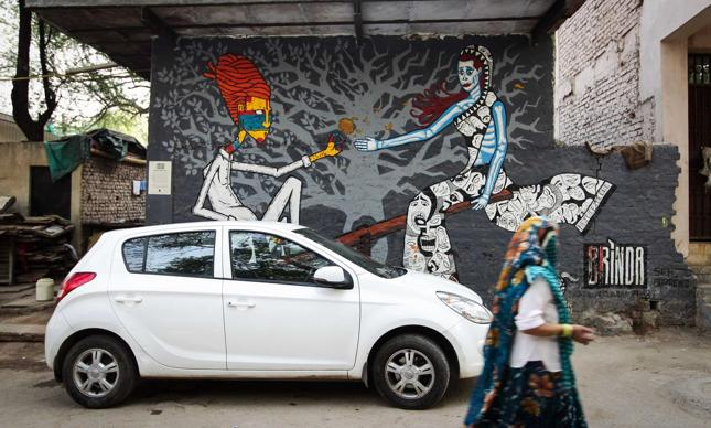 Graffiti w Haus Khaz