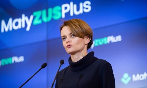 Emilewicz ma nadzieję, że Mały ZUS Plus ruszy od 1 stycznia 2020 r.