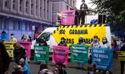 Ministerstwo Aktywów Państwowych zablokowane przez Greenpeace