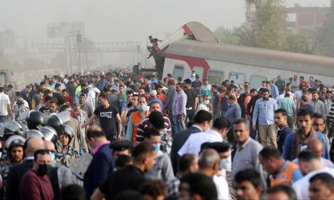 Katastrofa pociągu w Egipcie. Są ofiary i blisko 100 rannych