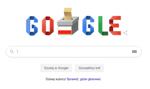 Wyszukiwarka Google z okolicznościowym logo z okazji wyborów w Polsce