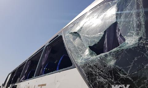 Około 30 osób poszkodowanych w wypadku autokaru w Bogusławicach
