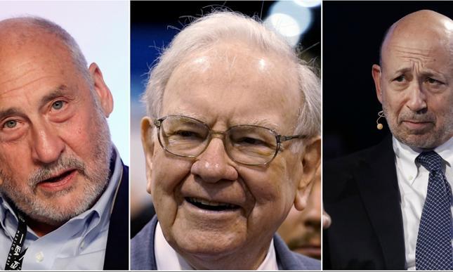 Joseph Stiglitz, Warren Buffett i Lloyd Blankfein