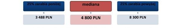 <h6>Schemat 1. Wynagrodzenia całkowite brutto osób z tytułem doktora w 2013 roku (w PLN)</h6>