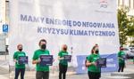 Aktywiści Greenpeace protestowali pod siedzibą PGE.