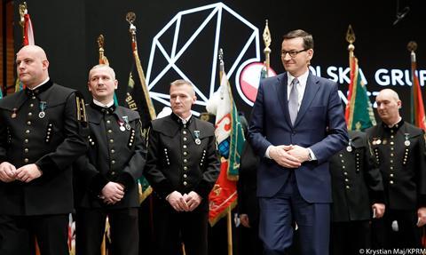 Premier do górników z PGG: przyczyniacie się do utrzymania bezpieczeństwa energetycznego Rzeczypospolitej