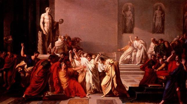 """Zabójstwo Cezara"", mal. Vincenzo Camuccini (1805)"