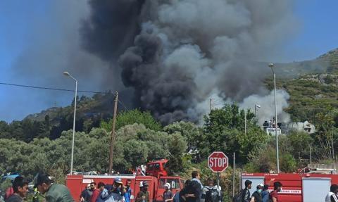Pożary w obozie dla migrantów. Blisko 200 osób bez dachu nad głową
