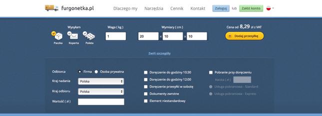 1dca9e35394fb Furgonetka.pl to szybsze i łatwiejsze nadawanie przesyłek ...