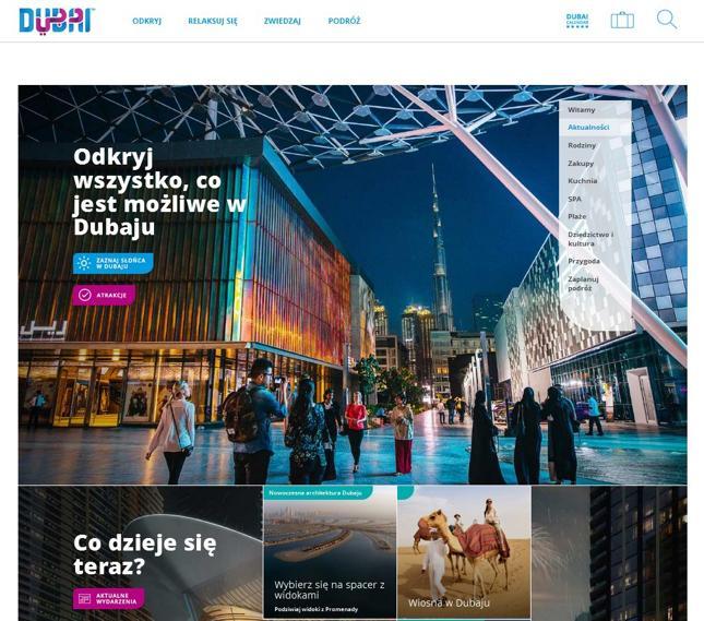 Polska wersja strony internetowej visitdubai.com i polskojęzyczne wersje kont w mediach społecznościowych to część oficjalnych działań promocyjnych Dubaju w Polsce