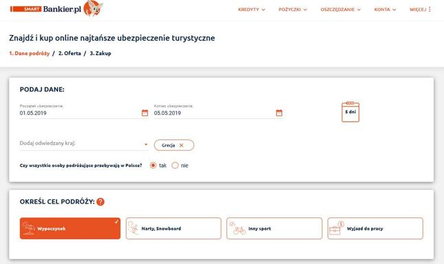 Nowa porównywarka ubezpieczeń turystycznych w smart.bankier.pl