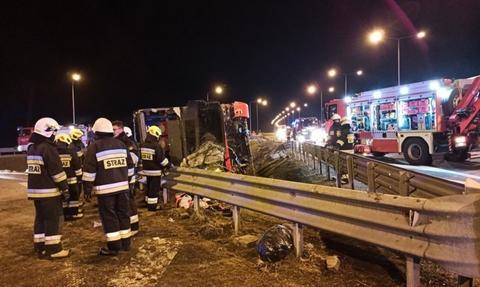 Wypadek ukraińskiego autobusu na A4. Zginęło pięć osób