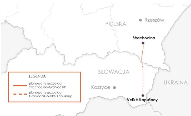Trasa gazociągu polsko-słowackiego