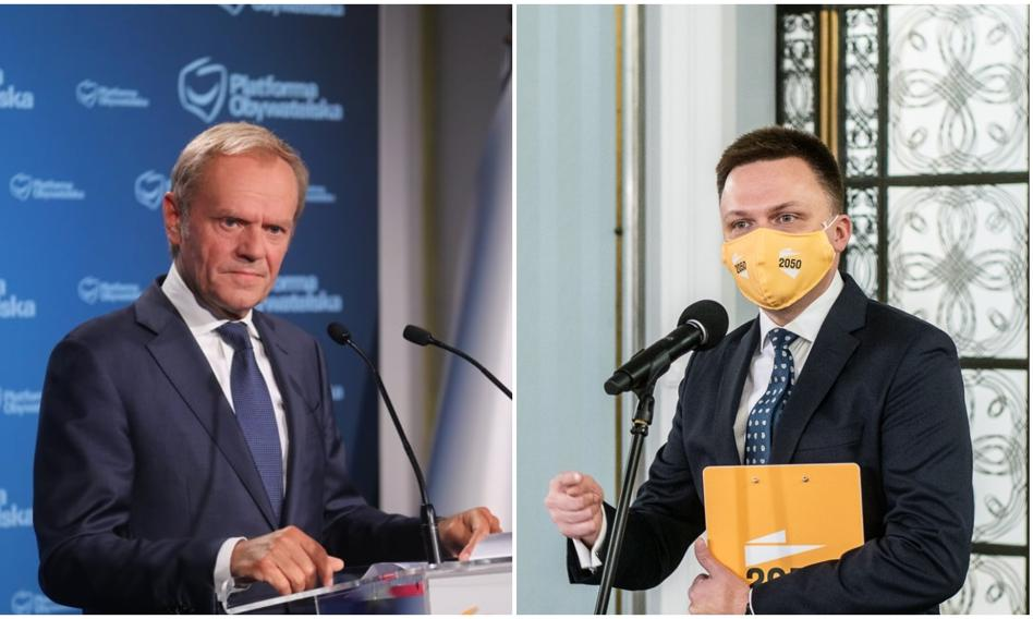 """KO wyprzedza Polskę 2050. Sondaż IBRiS dla """"Wydarzeń"""""""