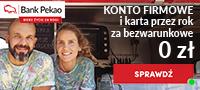 Konto Firmowe i Karta przez rok za bezwarunkowe 0 zł