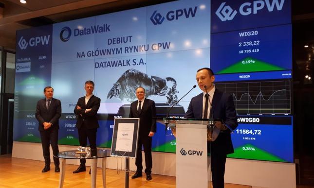 DataWalk podczas giełdowego debiutu