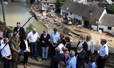Powódź w Niemczech. Merkel zapowiada szybką pomoc dla poszkodowanych