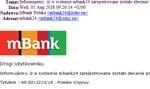 """Oszuści podszywają się pod mBank – """"zlecenie przelewu"""""""