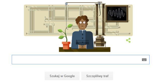 Jagadis Chandra Bose w Google Doodle