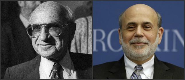 Milton Friedman i Ben Bernanke