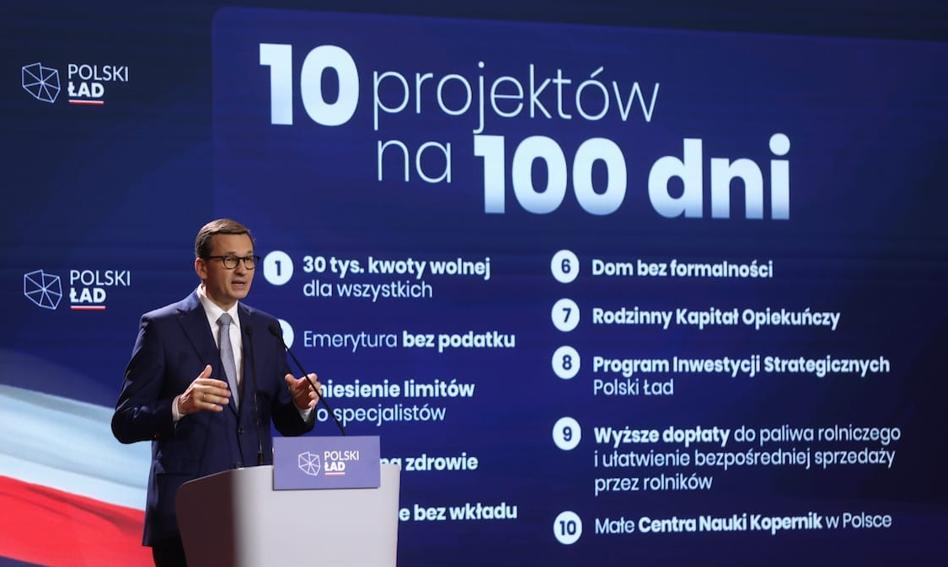 Polski Ład – Morawiecki zapowiada 10 kluczowych projektów w ciągu 100 dni